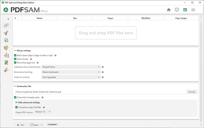 Split or Merge PDFs with PDFsam Basic