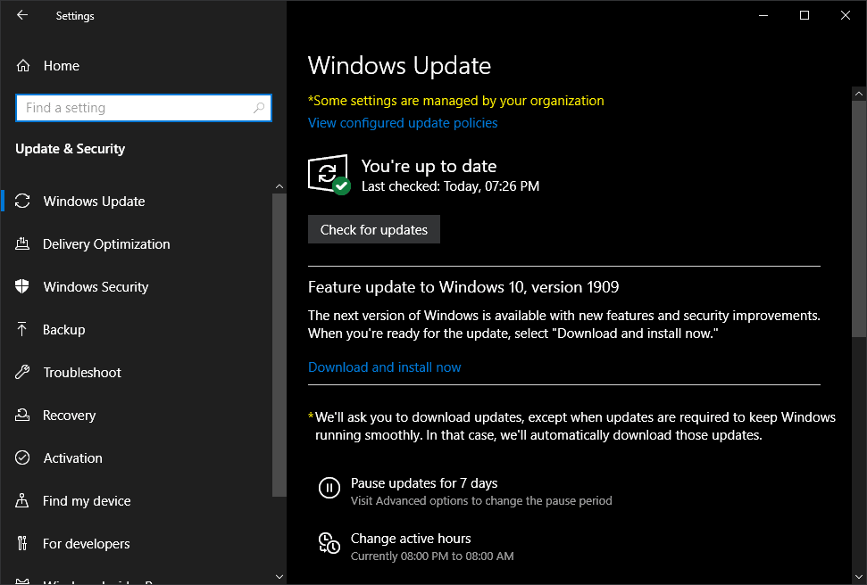 Microsoft Releases Windows 10 Version 1909