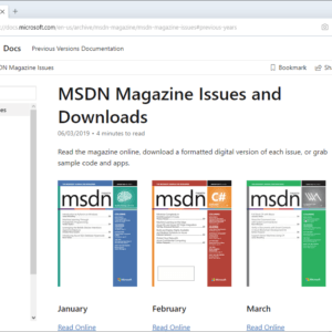 msdn magazines archive