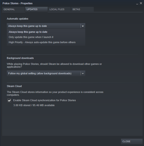 steam limit auto updates individual games