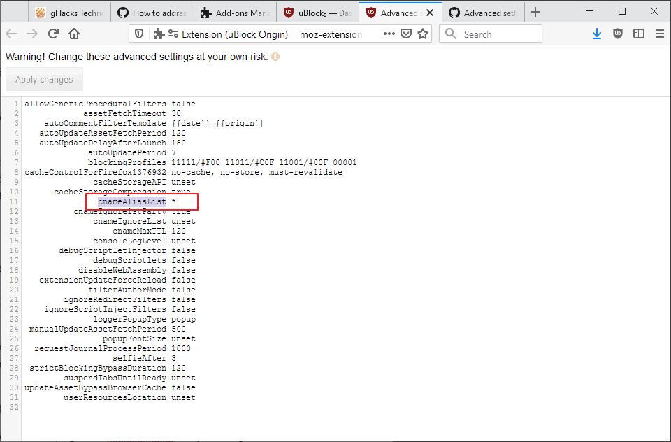 ublock origin first party tracking