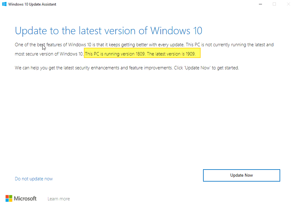 Microsoft unlocks Windows 10 November 2019 Update in the Update Assistant