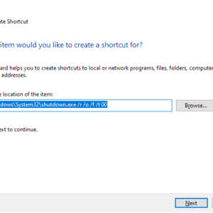 windows 10 advanced options shortcut
