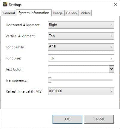 AwesomeWallpaper system information
