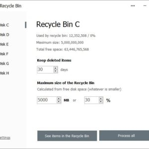 Empty the recycle bin on Windows boot with the free Auto Recycle Bin tool
