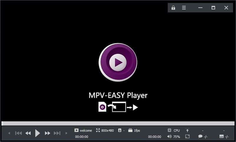 MPV-Easy Player main screen