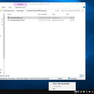 Minimize Thunderbird to the system tray with ThunderBirdTray