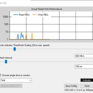SSD-LED is a free drive activity indicator for Windows