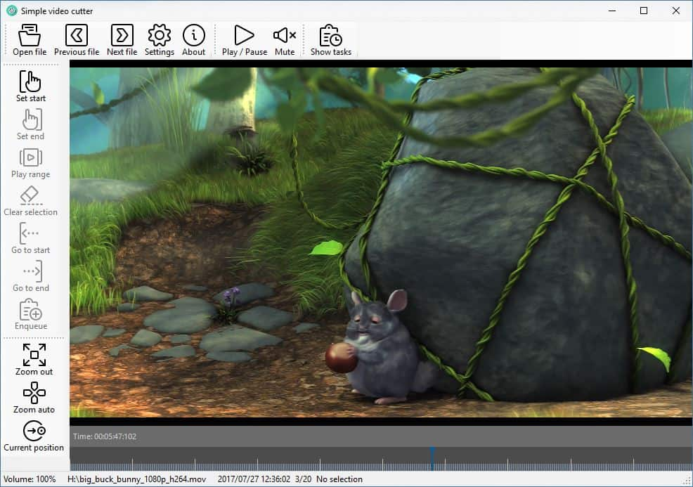 SimpleVideoCutter video preview