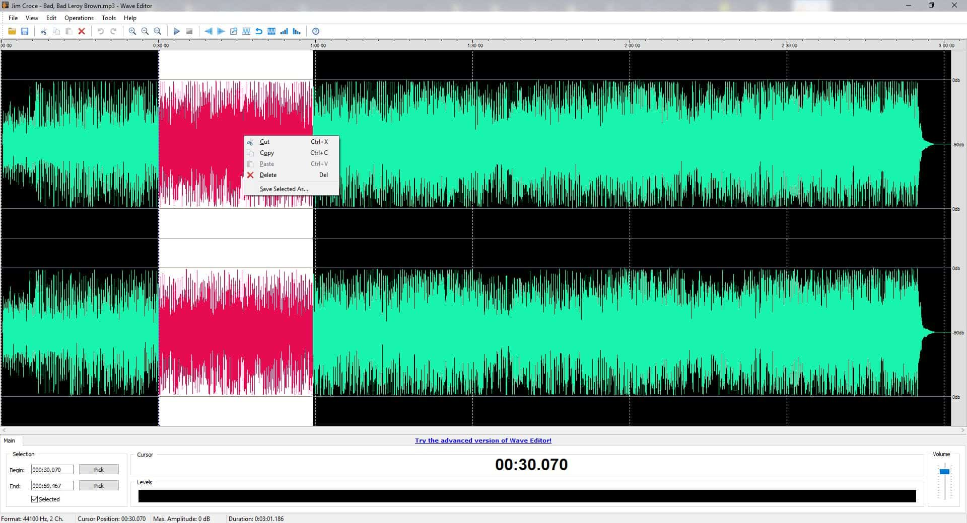 Wave Editor is a free and user-friendly audio editing program for Windows