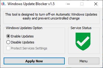 Windows Update Blocker green icon