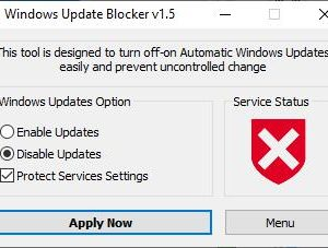 Windows Update Blocker is a portable freeware tool which can disable updates permanently