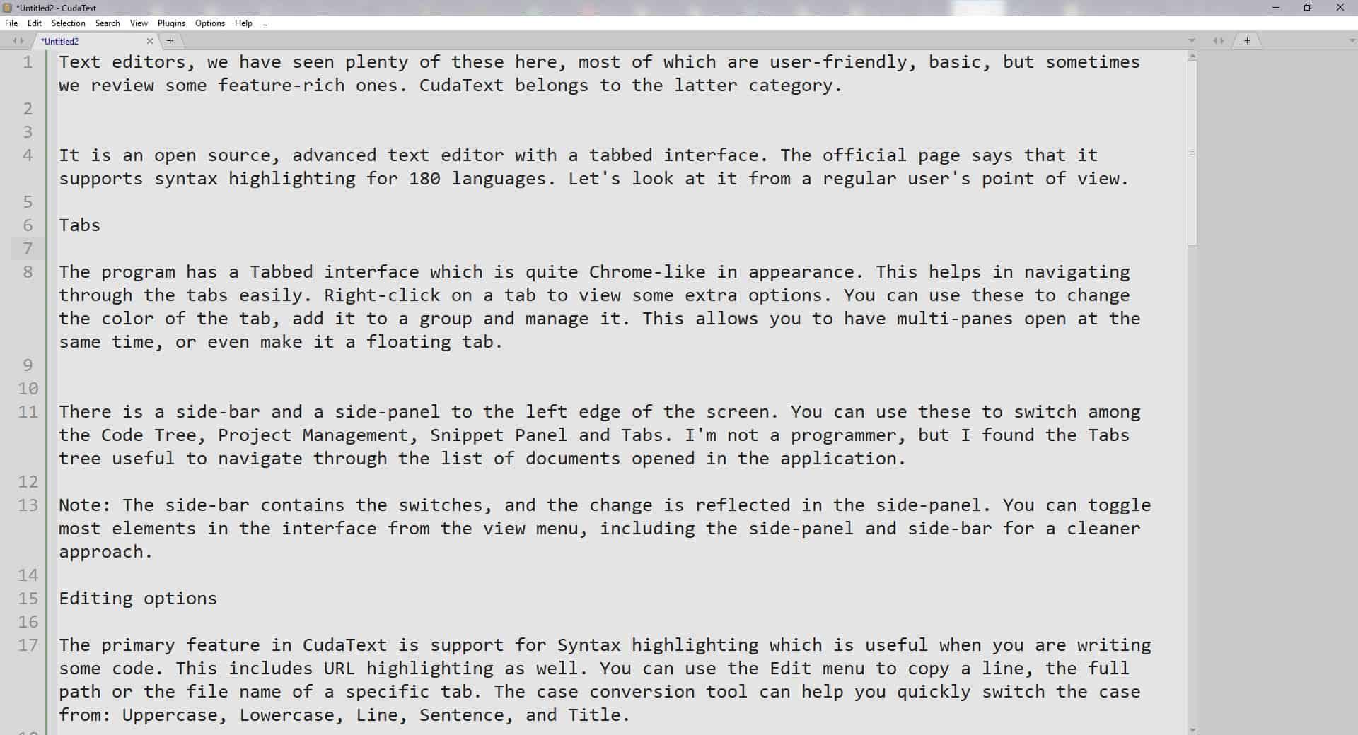 cudatext document