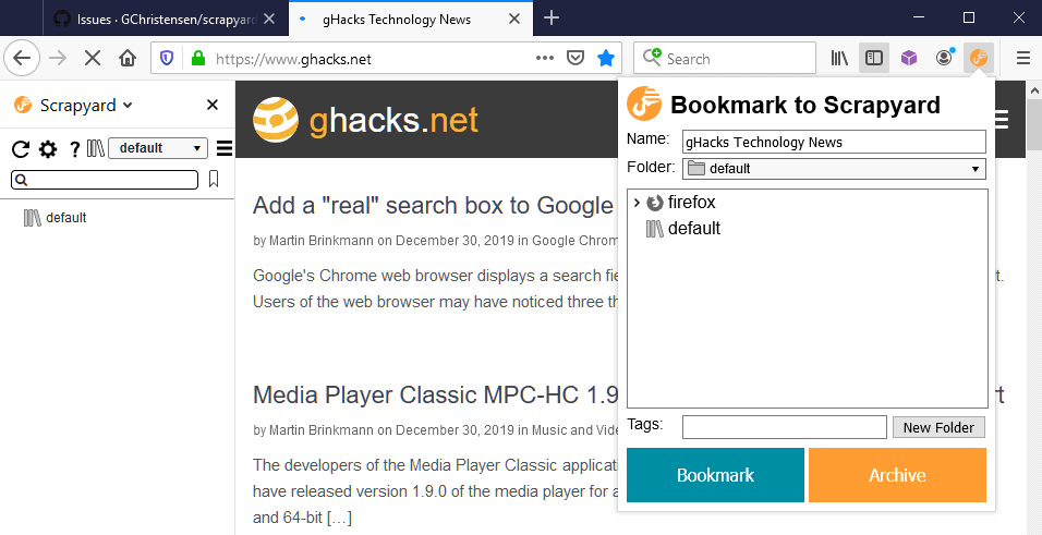 firefox advanced bookmarks