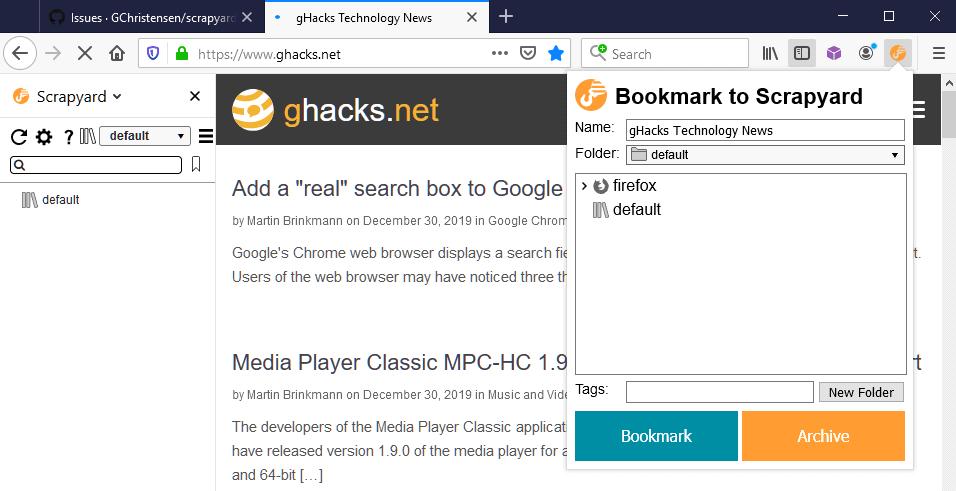 firefox advanced bookmarks