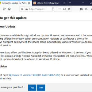 windows 10 update mistake