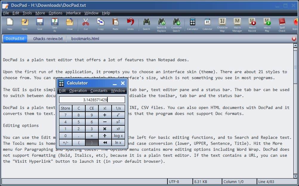 DocPad Calculator