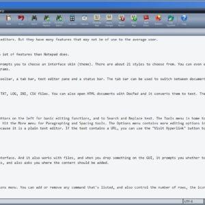 DocPad is a highly customizable plain text editor for Windows