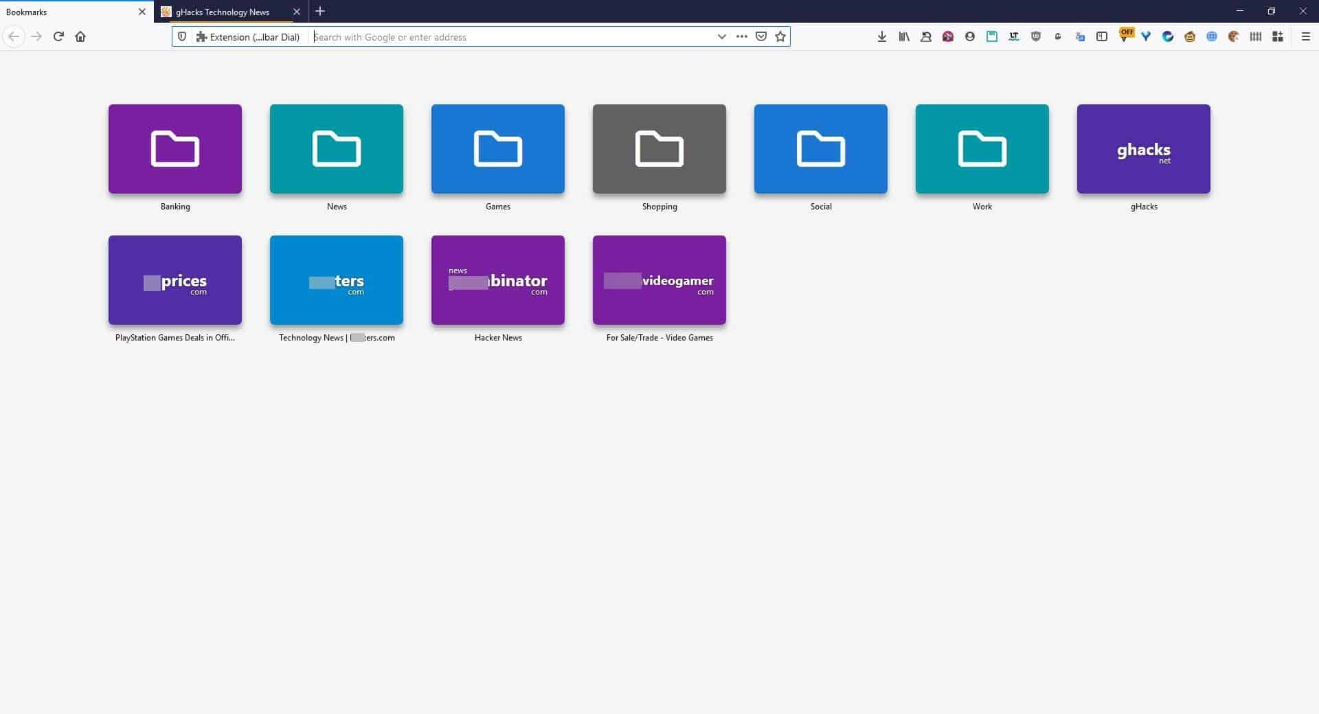 Enable Opera-like Speed Dials in Firefox and Chrome with Toolbar Dial