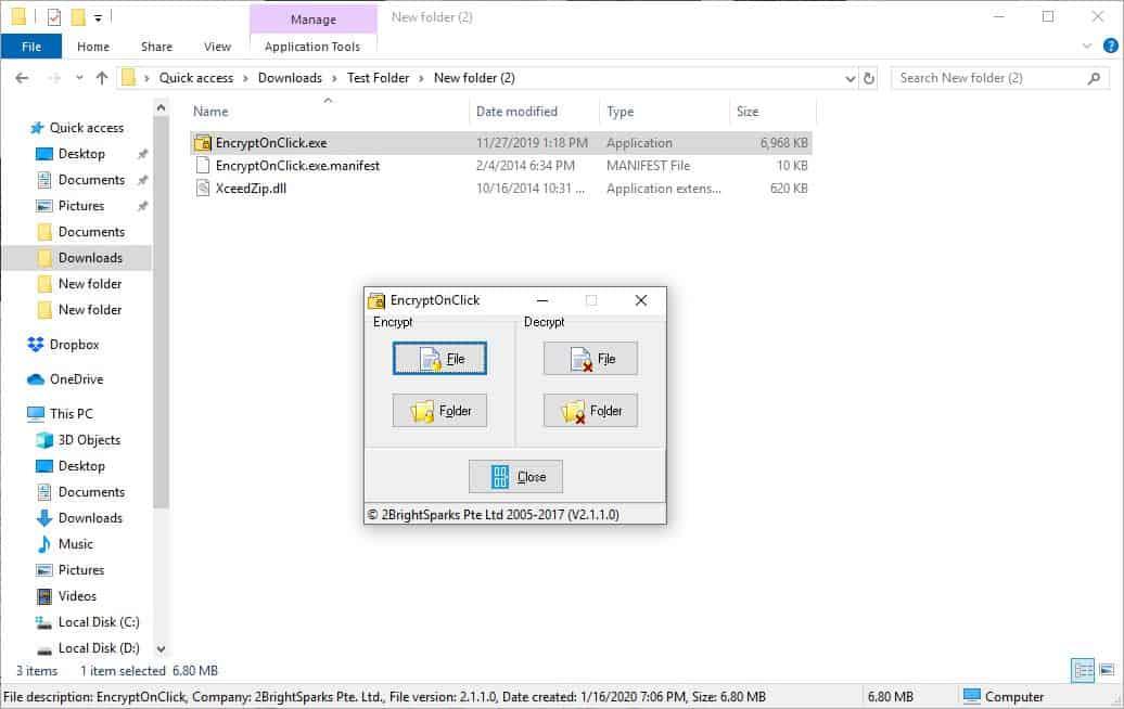 EncryptOnClick portable 2