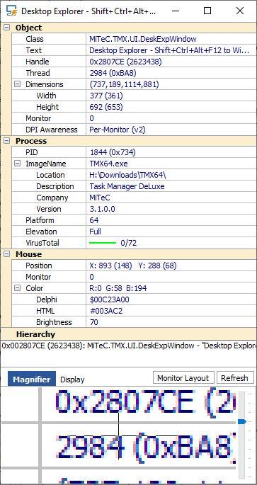 MiTec Task Manager DeLuxe - desktop explorer