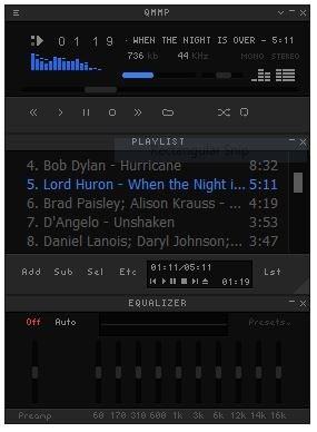 Qmmp is a freeware music player that looks like Winamp