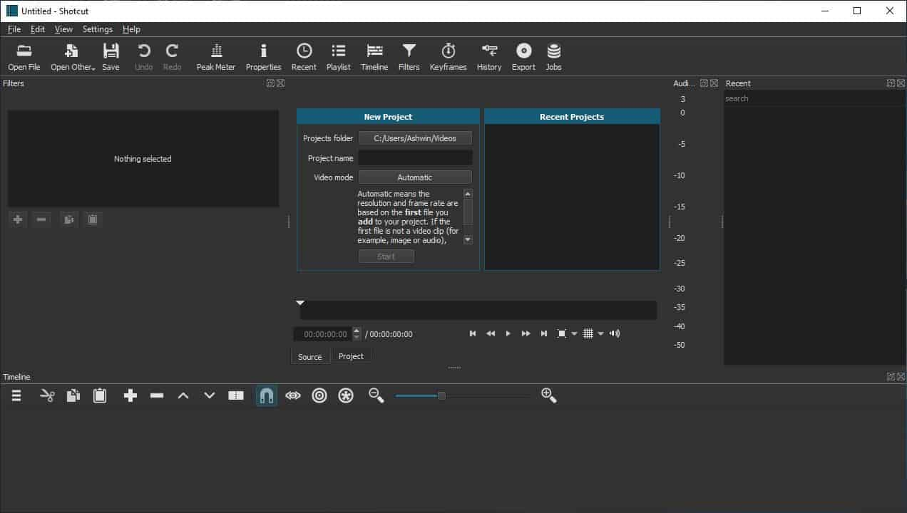 Shotcut is an open source video editor for Windows, Linux, and macOS.