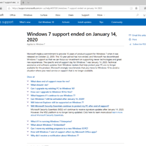 antivirus support windows 7