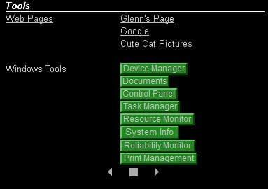 desktop info advanced pages