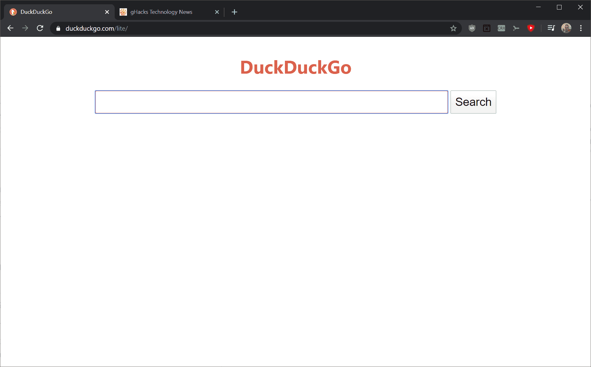 DuckDuckGo Lite: efficient search without ads - Ghacks Technology News