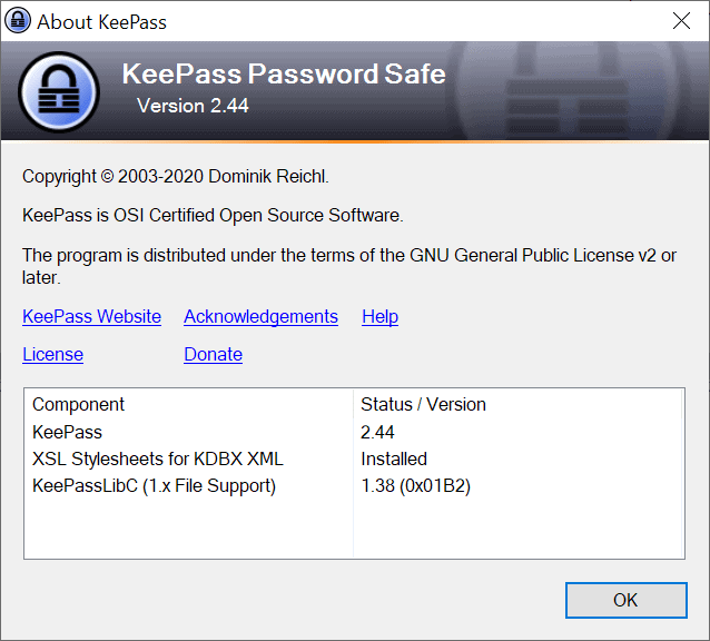 Password Manager KeePass 2.44 is out