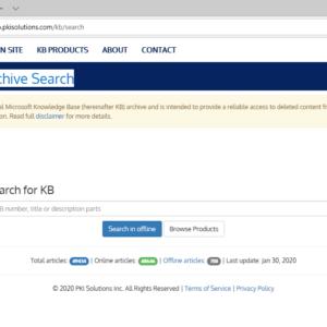 microsoft kb archive search