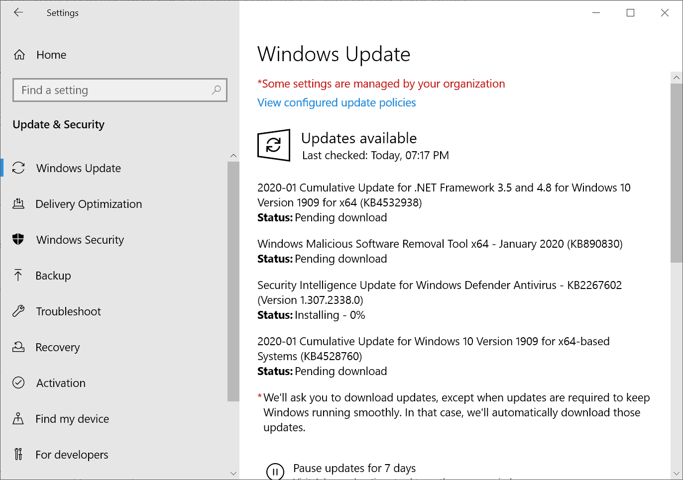 Microsoft Windows Security Updates January 2020 overview (end of Windows 7 support edition)