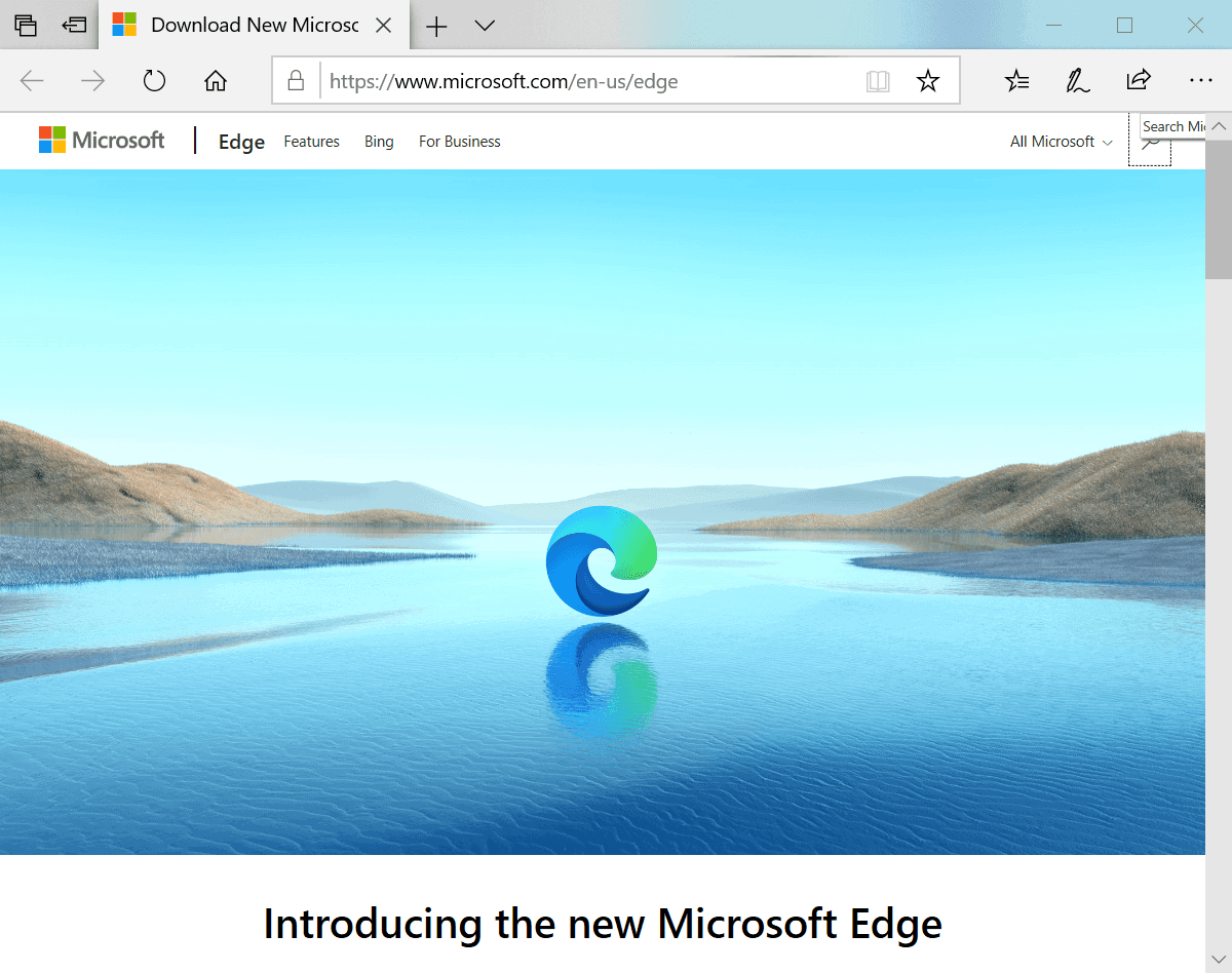 stable Microsoft Edge Chromium