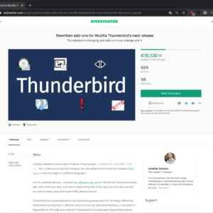 thunderbird extensions kickstarter