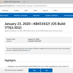 windows 10 update KB4534321 KB4534308