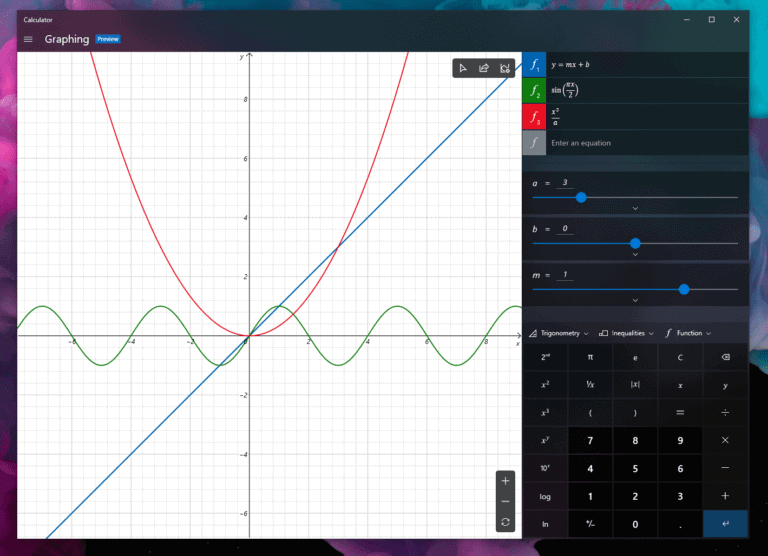 Windows Calculator will get a Graphing Mode: first look