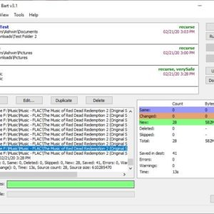 Bart is a freeware file and folder synchronization tool for Windows