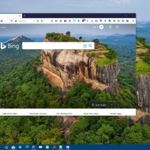 BingSnap is a freeware program that can download the daily Bing wallpaper and set it as your desktop background