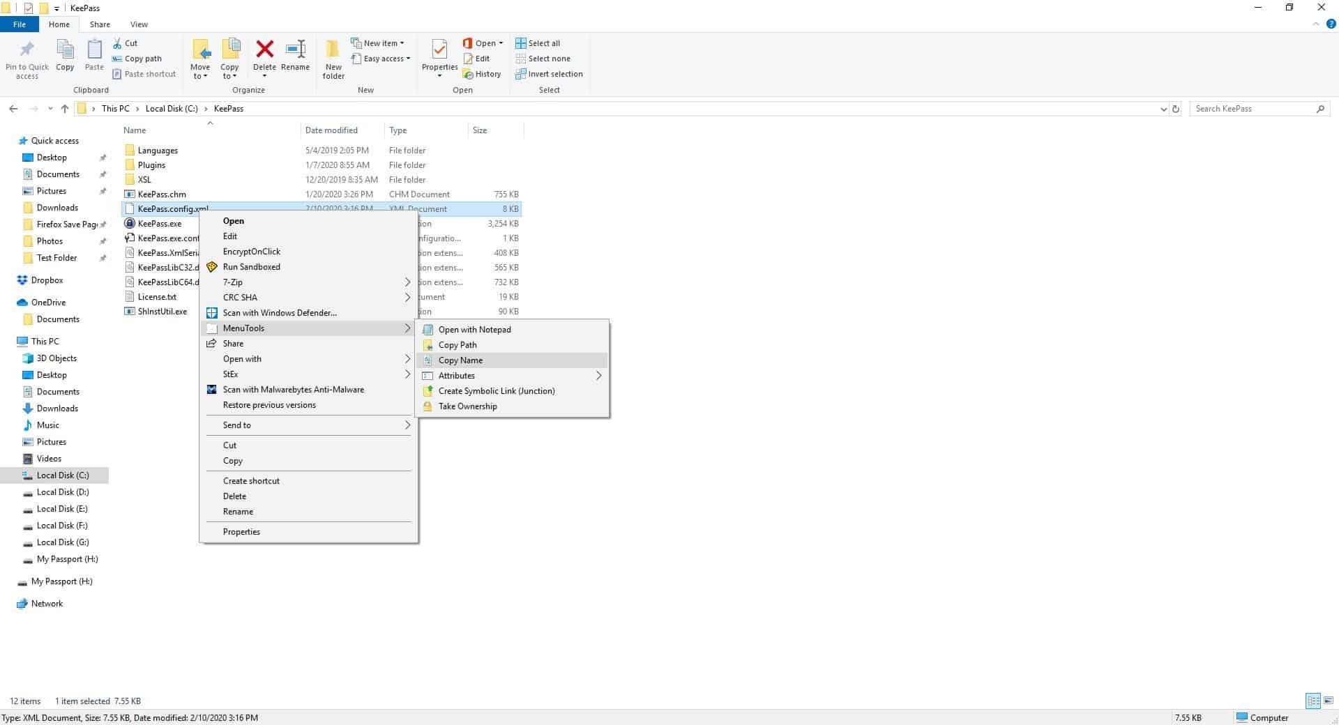 MenuTools Windows Explorer