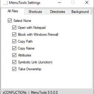 MenuTools is an open source context menu extender for Windows Explorer