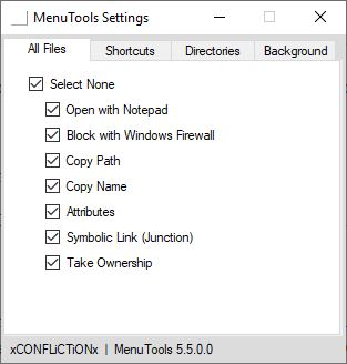 MenuTools is an open source context menu extender for Windows Explorer