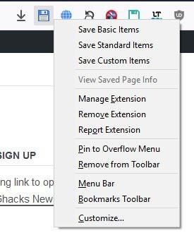 Save page WE context menu