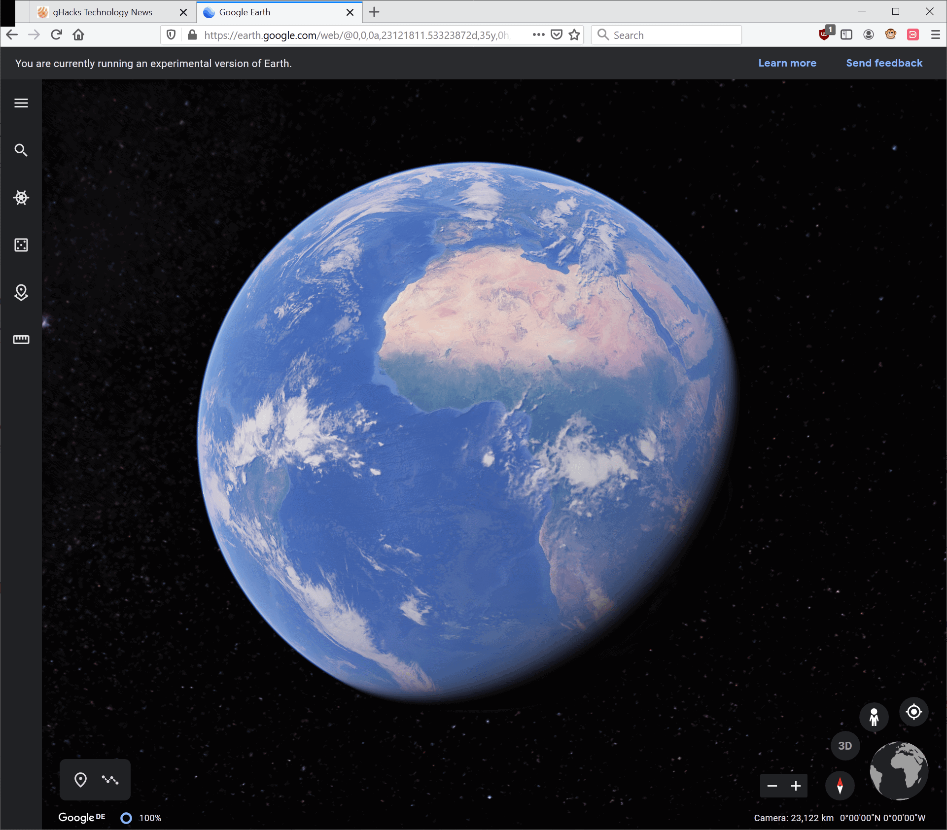 google earth firefox