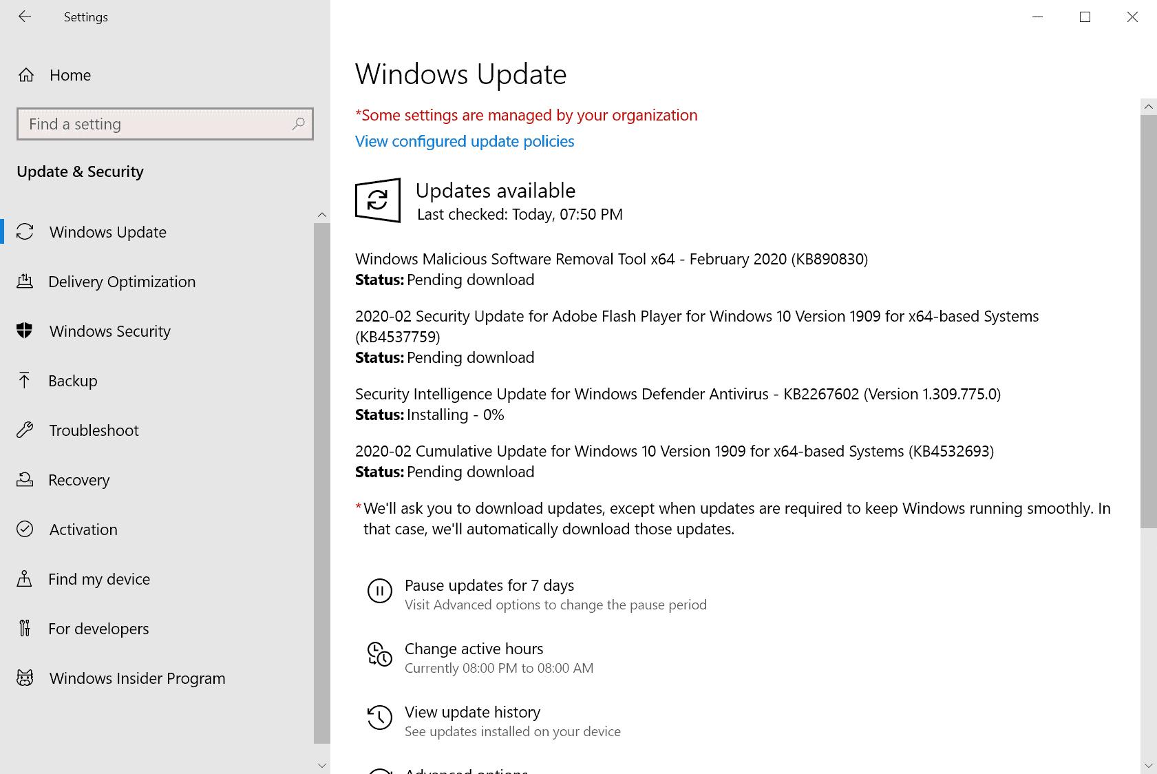 microsoft windows security updates february 2020