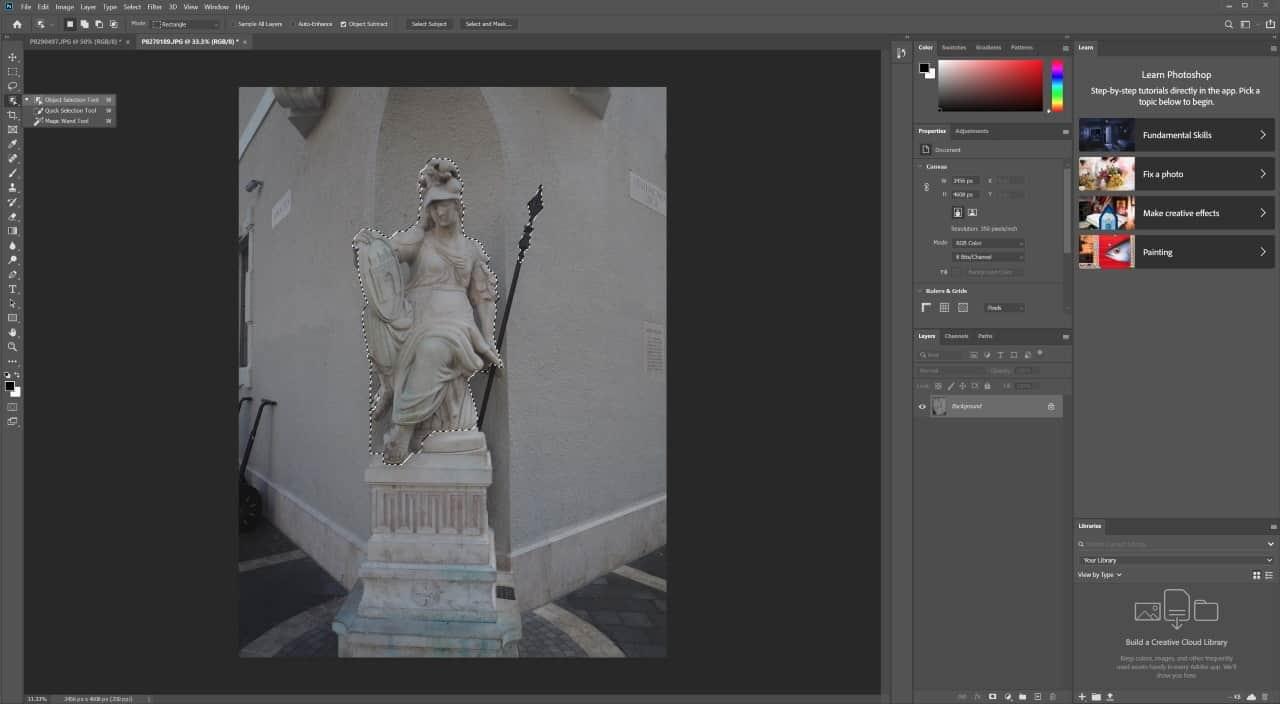 photoshop object selection