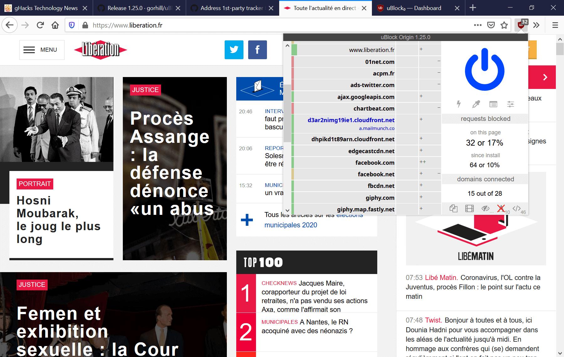 ublock origin firefox first-party blocking