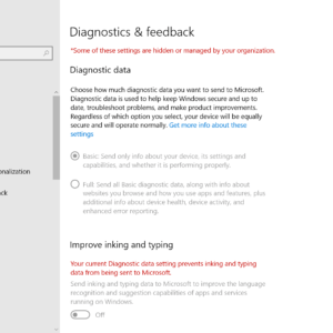 windows 10 diagnostic data