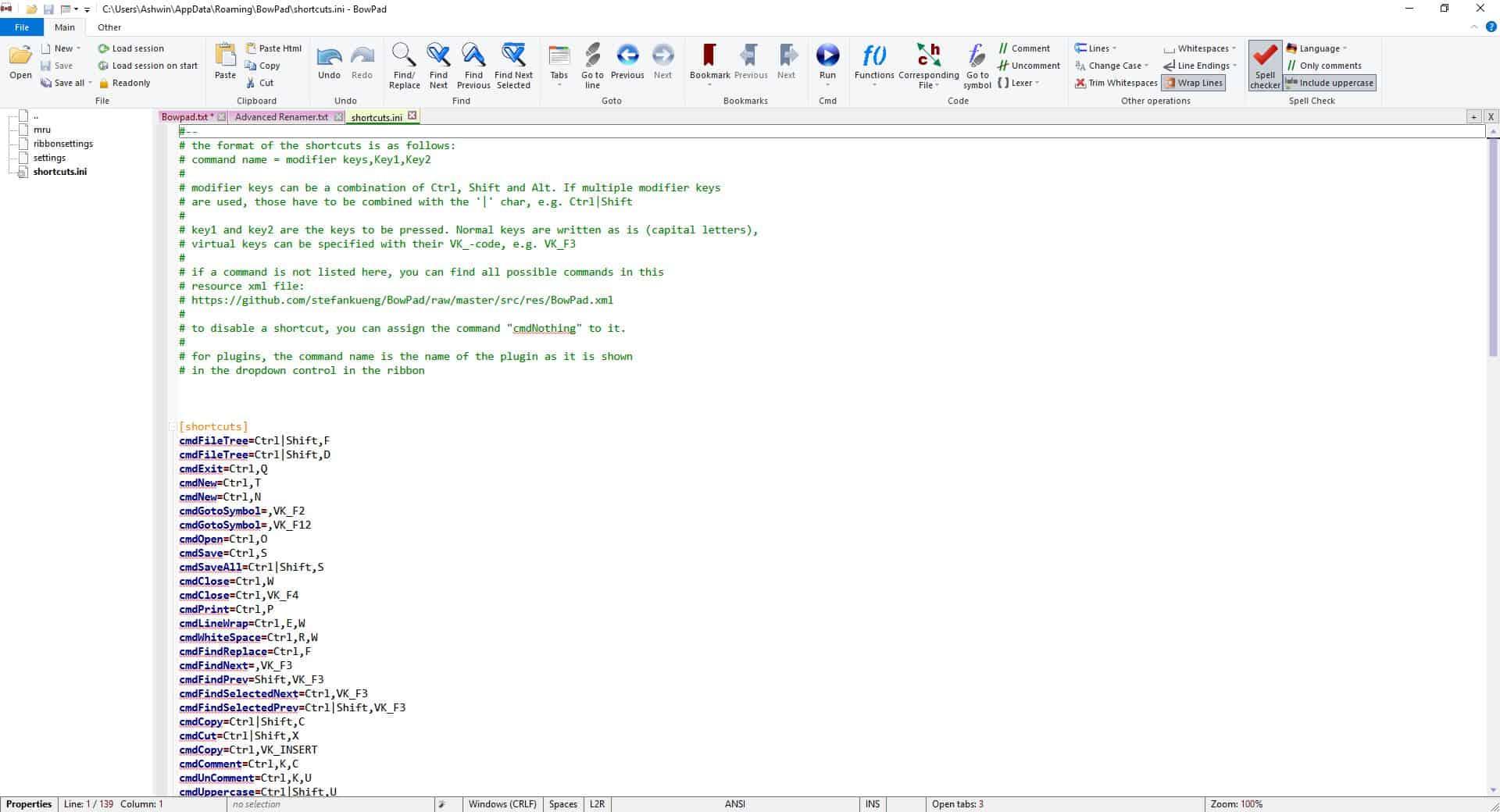 BowPad syntax