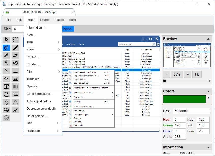 ClipClip image editor